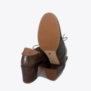 Zapatos Cordones Oxford Charol Taupe