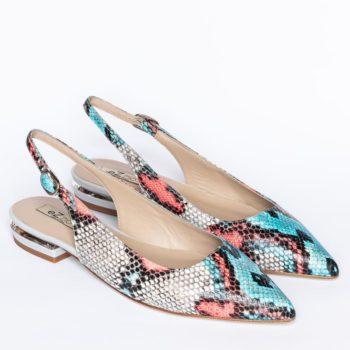 Zapatos Salón Destalonado EZZIO Animal Print Serpiente perfil