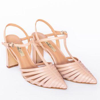 Zapatos Salón Destalonado EZZIO Nude Multi Tiras 44615 perfil