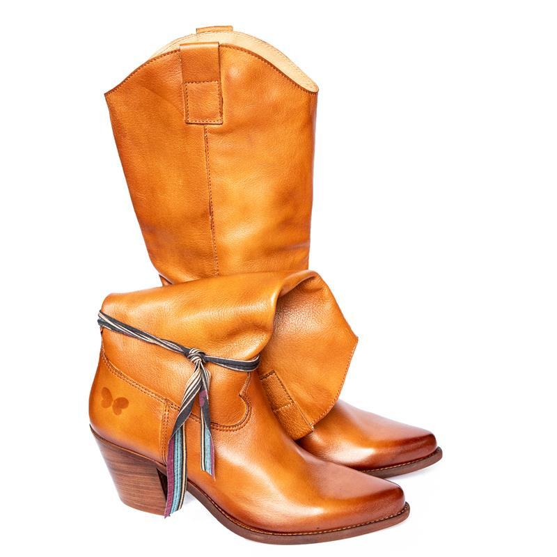 Botas Altas Cowboy Felmini Laredo Box Cuero Lavado par