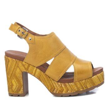 Sandalias Plataforma Mujer Carmela Shoes 067706 Amarilla perfil