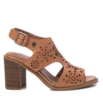 Sandalias Tacón Mujer Carmela Shoes 067763 Camel perfil