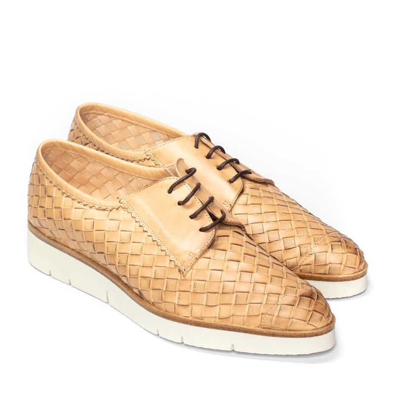 Zapatos Trenzados Blucher Camel HOBBY Mujer perfil
