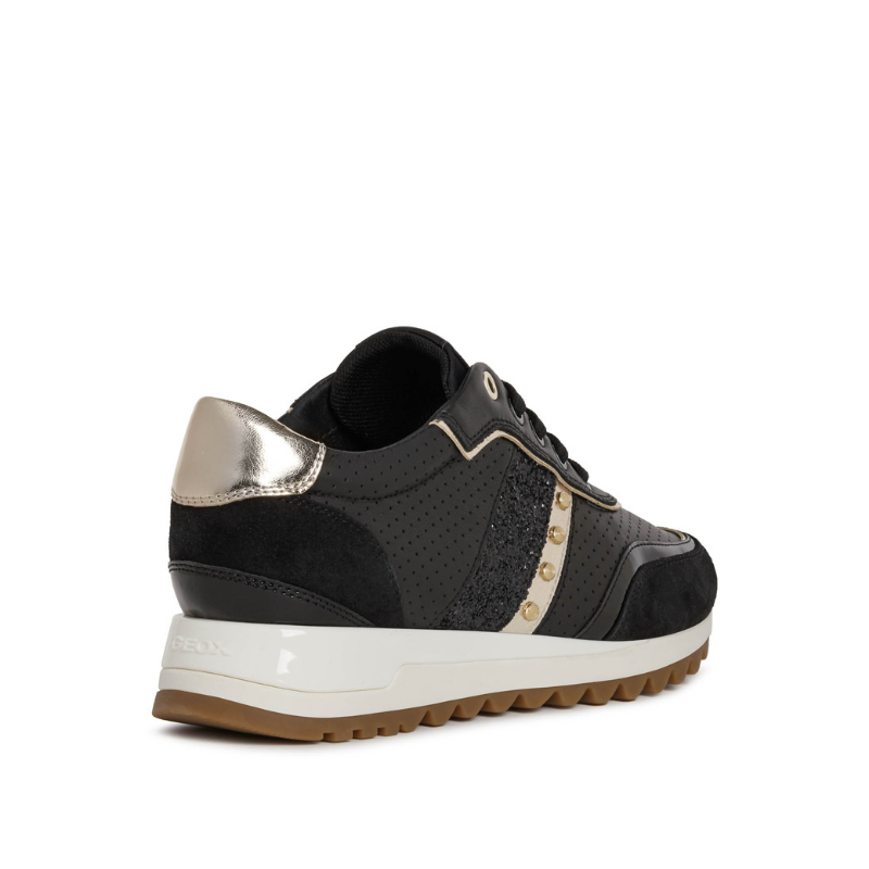 Deportivos Sneakers Tabelya GEOX D04AQB Negros lateral