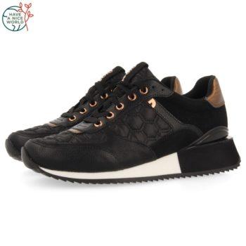 Sneakers de Mujer GiosEppo 64362 Engerdal Negras perfil