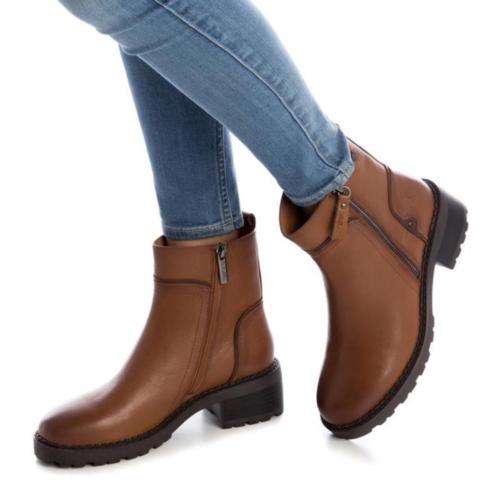 Botín de Mujer Piel Camel Carmela Shoes 06790502 modelo