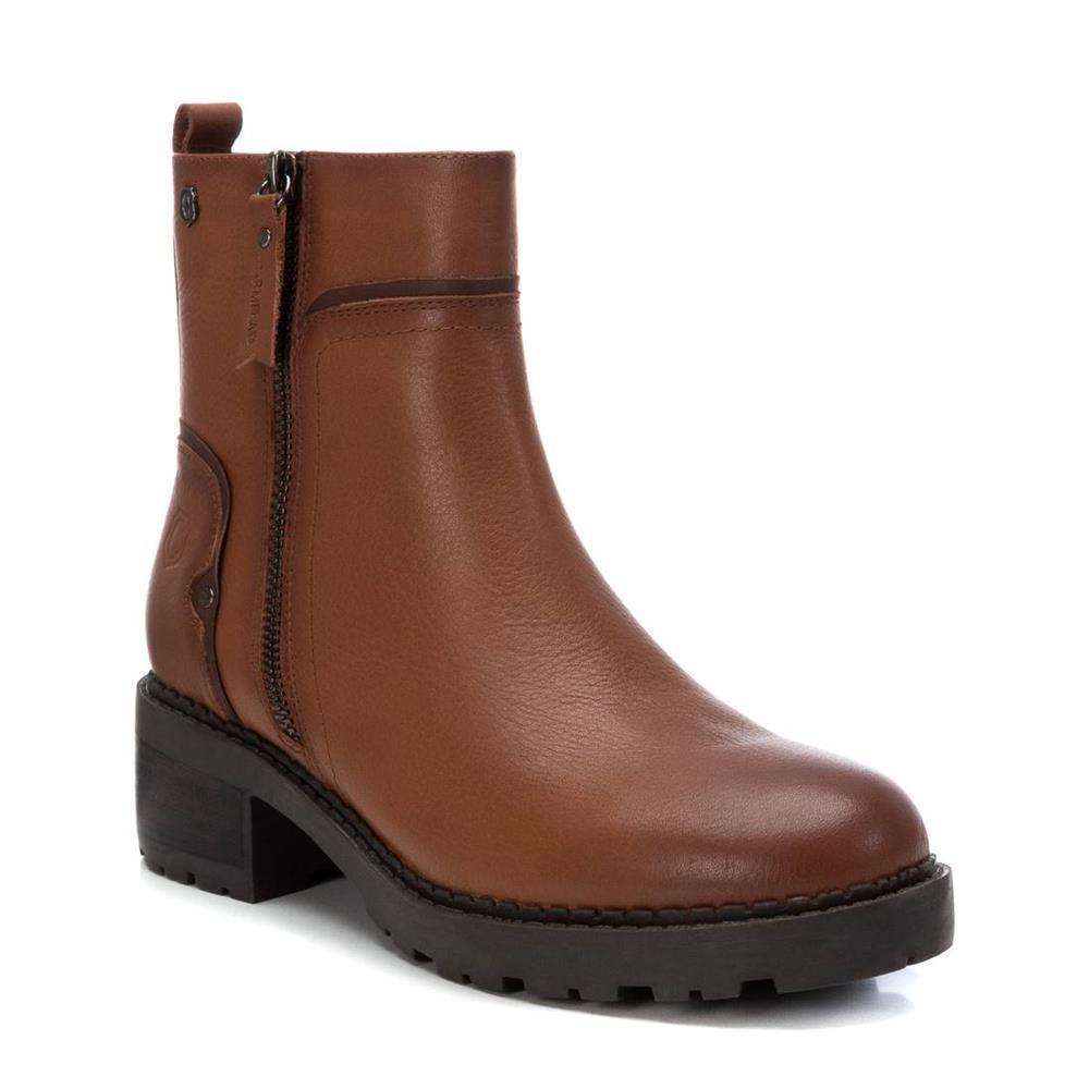 Botín de Mujer Piel Camel Carmela Shoes 06790502 pala