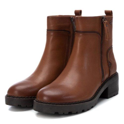 Botín de Mujer Piel Camel Carmela Shoes 06790502 par