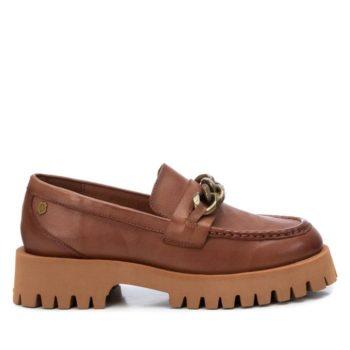 Mocasines de Mujer Carmela Shoes 0798502 Camel lateral