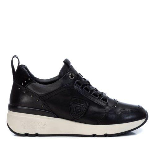 Zapatillas con Cuña de Mujer Carmela Shoes 06803901 Negras perfil