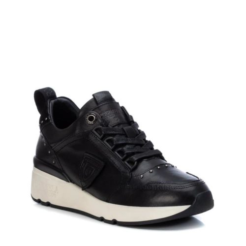 Zapatillas con Cuña de Mujer Carmela Shoes 06803901 Negras lateral