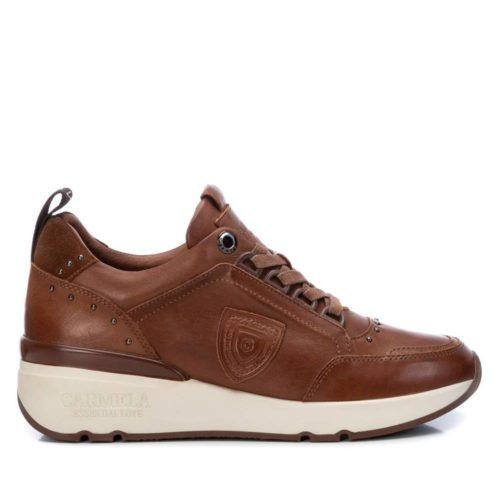 Zapatillas con Cuña de Mujer Carmela Shoes 06803902 Camel perfil