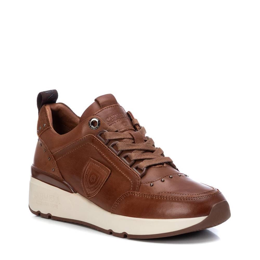Zapatillas con Cuña de Mujer Carmela Shoes 06803902 Camel lateral