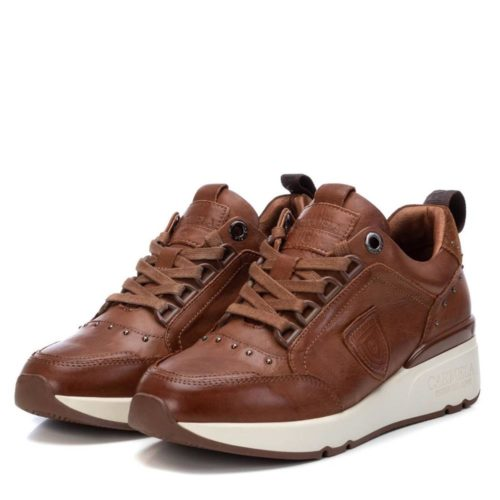 Zapatillas con Cuña de Mujer Carmela Shoes 06803902 Camel par