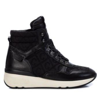Botines Deportivos con Cuña Carmela Shoes 06811401 Negros perfil