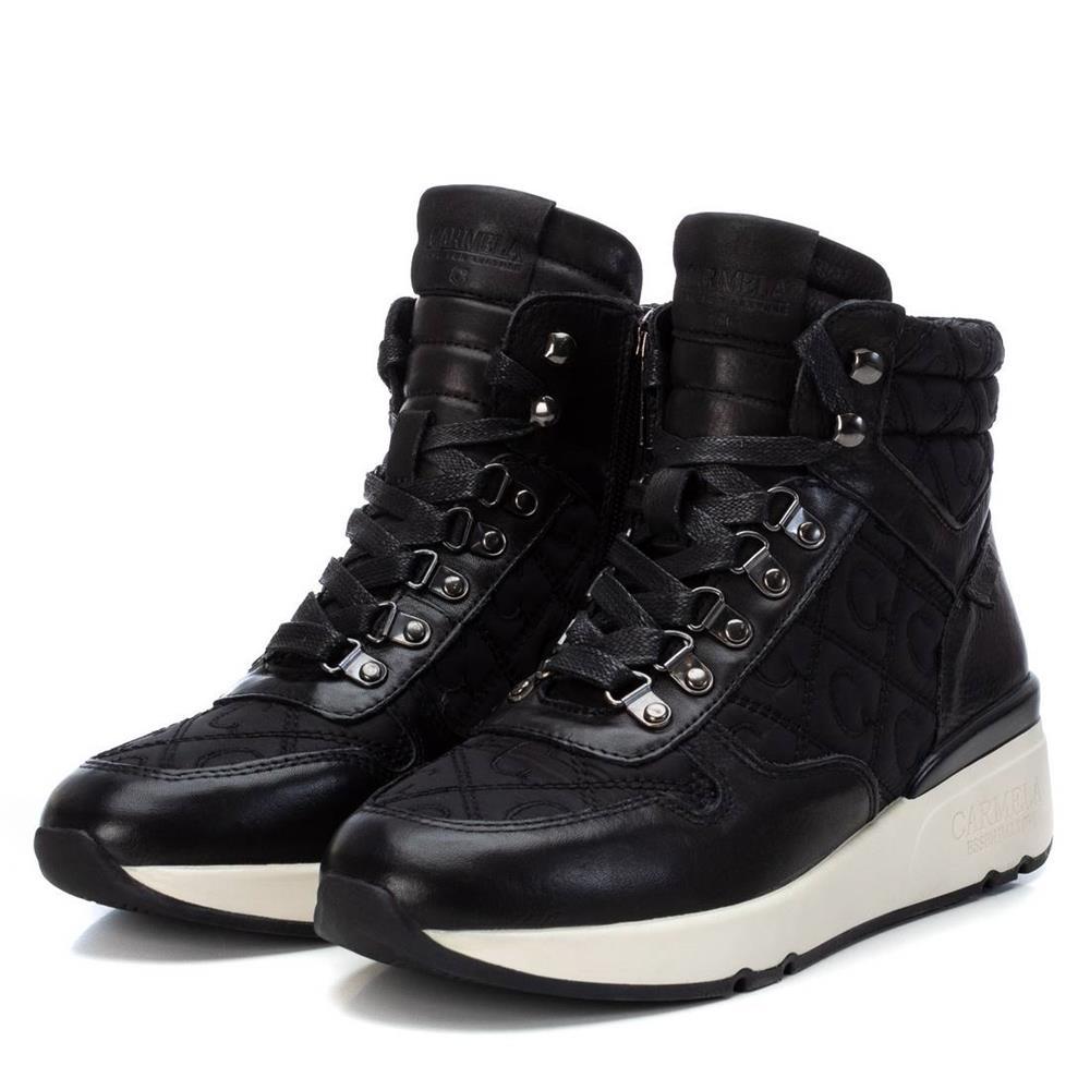 Botines Deportivos con Cuña Carmela Shoes 06811401 Negros par