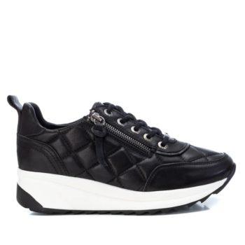 Zapatillas con Cuña de Mujer Carmela Shoes 06818301 Negras perfil