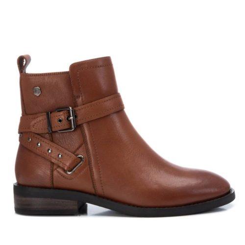 Botín Plano Cuero Carmela Shoes 06797301 perfil