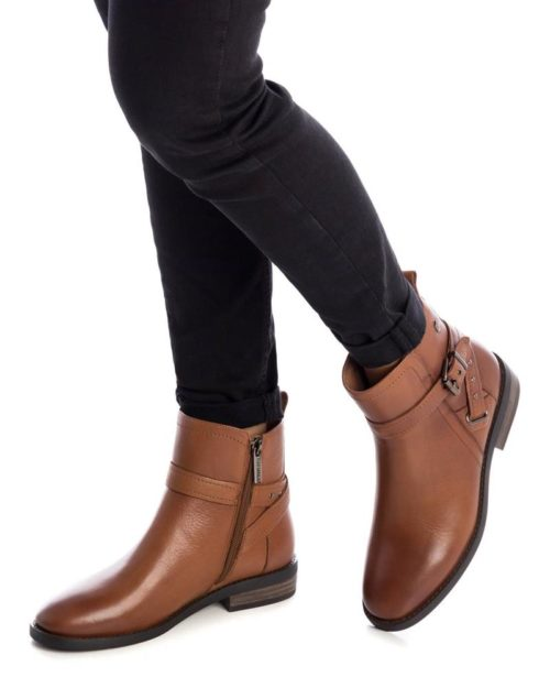 Botín Plano Cuero Carmela Shoes 06797301 modelo