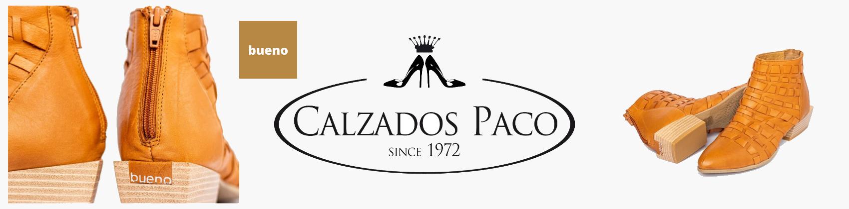 Calzados Paco y Bueno banner de la tienda y marca